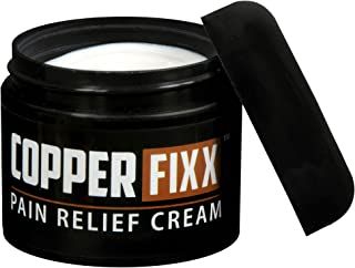 CopperFixx Pain Relief Cream, 2 Fl. Oz Jar powered by Copper with Heat Technology with Arnica for Muscle Pain and stiffness and Joint Inflammation, Knee, Back, Shoulder and Arthritis Pain. Fast Acting