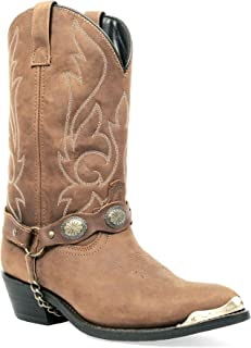 Men's Masterson J Toe Western Cowboy Boot with Chain Strap