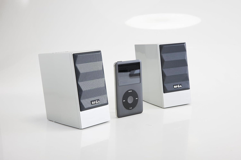 DESK TOP PC Speaker BF/&A Bonfire Acoustic MM2B LAP TOP Silver