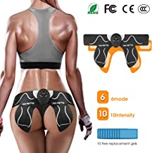 MOICO Butt Hips Trainer 2019 Upgrade Muscle Toner Fitness Training Gear Home Office Ab Trainer Workout Equipment Machine Fitness for Women Men,10pcs Free Gel Pads