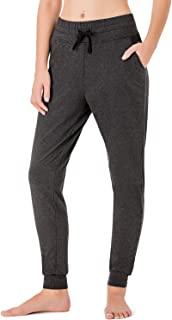 NAVISKIN Women's Yoga Running Pants Outdoor Lounge Sweat Pants Side Pockets