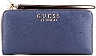 Luxury Fashion | Guess Womens SWEV7180460NAVY Blue Wallet | Fall Winter 19