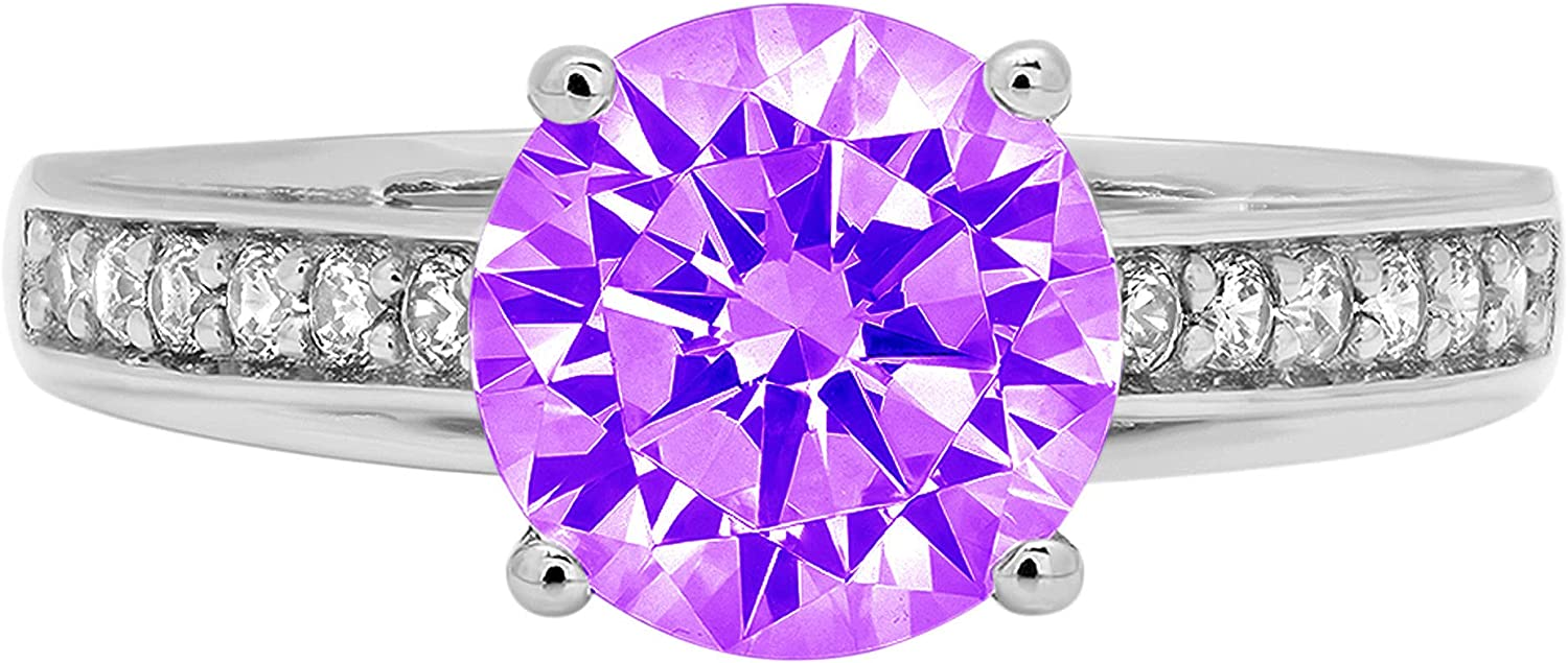 Clara Pucci 2.31 Brilliant Round Cut Solitaire Shipping included cathedral Ranking TOP2 Stunnin