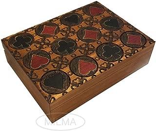 Playing Card Box Four Suits Card Box Polish Handmade Wood Keepsake Box