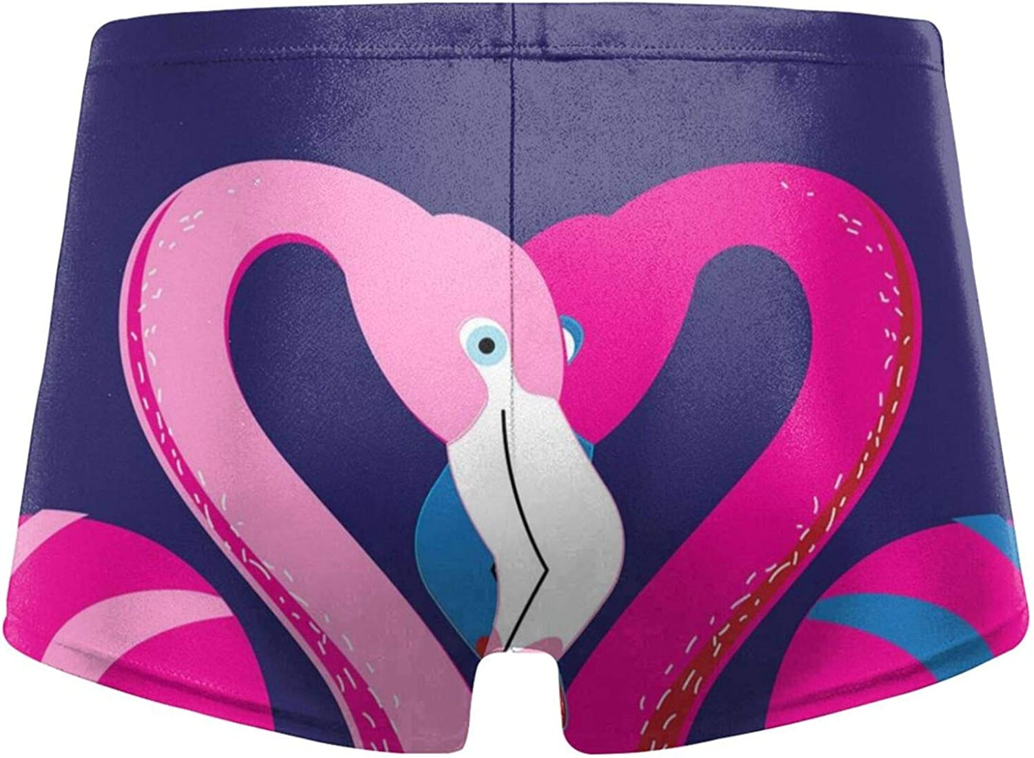 in Love with A Flamingo Men's Swimming Trunks Fitness Swimwear Boxer Pants Board Shorts