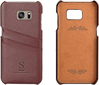 Simons of London Galaxy S7 Edge Luxury Leather Case with Slots for ID/Bank Cards   Ultra Slim Fit Cases in Pouch and Gift Box