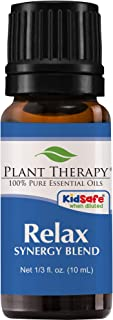 Plant Therapy Essential Oil | Relax Synergy | Sleep & Stress Blend | 100% Pure, Undiluted, Natural Aromatherapy, Therapeutic Grade | 10 Milliliter (1/3 Ounce)