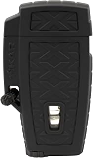 Xikar Stratosphere II High Altitude Lighter, Single Jet Flame, Windproof, Ergonomic Design, Durable and Dependable, Black
