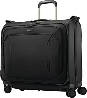 Lineate Duet Wheeled Garment Bag, Obsidian Black
