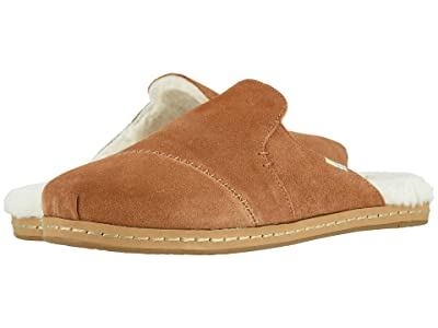 TOMS Nova Leather Wrap (Carmel Brown Suede/Faux Fur) Women