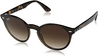 RAY-BAN RB4380N Blaze Round Sunglasses, Light Tortoise/Brown Gradient, 37 mm