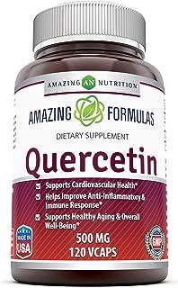 Amazing Formulas - Quercetin 500 Mg, 120 VCaps(Vegetarian Capsules) (Non-GMO,Gluten Free, Vegan) * Supports Cardiovascular...