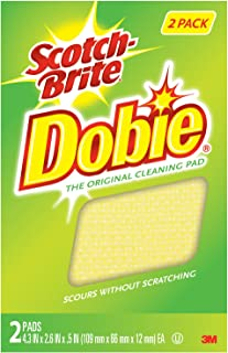 Scotch-Brite Dobie All-Purpose Cleaning Pads, Scours without Scratching, 12 Pads