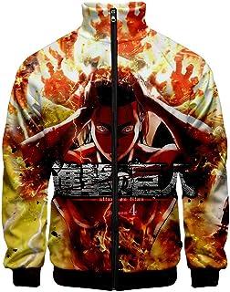 Attack on Titan Day Long Sleeve Stand Collar Zipper Sweatshirt Men's and Women's Sweatshirt