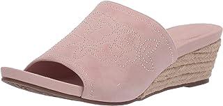 Taryn Rose Women's Slip on Espadrille Wedge Sandal, PALE ROSE, 7