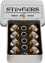 Yellow Jacket Premium Skateboard Bearings, Pro Longboard Bearings, 608, ABEC (Pack of 8)