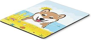 Caroline's Treasures Shiba Inu Summer Beach Mouse Pad, Hot Pad or Trivet, Multicolor (BB2093MP)