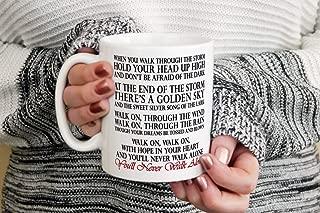 You39ll Never Walk Alone Song Lyric Mug Liverpool Anthem YNWA LFC Christmas Gift