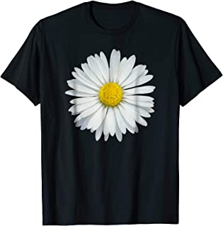 White and Yellow Daisy T-Shirt Flower Rave Tee