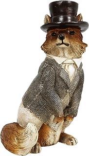 Liffy 狐の犬 しんし動物オブジェ プレゼント 庭に置物&フェンス屋外&芝生の入り口&ガーデン&あとりうむ