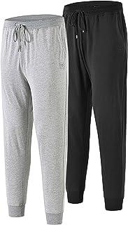 JINSHI Men's Cotton Pyjamas Bottoms Lounge Pants Nightwear with Pockets
