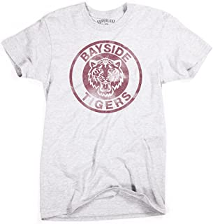 Superluxe Clothing Mens Bayside Tigers Vintage Style Zack Morris Slater T-Shirt
