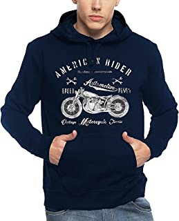 ADRO Men's American Rider Biker Printed Cotton Hoodies
