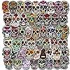 ステッカー 10/30 / 50ピースホラースカルハロウィーン漫画落書きパーソナライズド荷物ラップトップヘルメット車の装飾ステッカーデカール卸売 絶妙なステッカー (Color : 10PCS)
