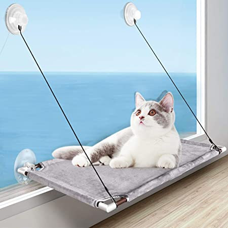 Window Mounted cat basking Hammock for cat Perch 55x32cm Suction Cup Pet Hanging Bed Comfortable Durable Solid Save Space