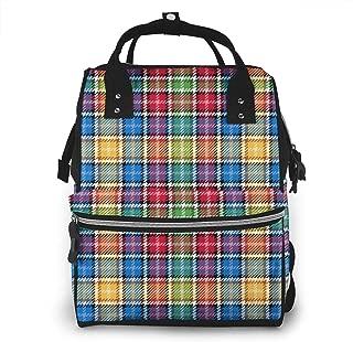 Tartan Christmascolors Multi-Function Travel Backpack Nappy Bag,Fashion Mummy Bag