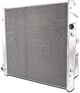 Full Aluminum Racing Radiator Powerstroke For Ford Diesel F250 F350 F450 6.0L 03-07 04 05 06 AT/MT Silver