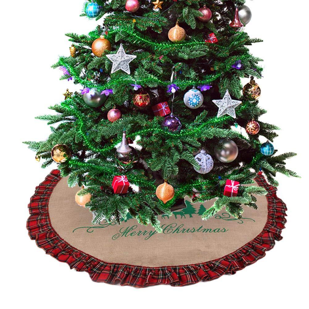 Return To Dust Falda de árbol de Navidad con diseño de Mickey ...