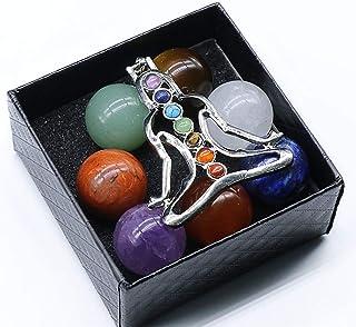 Seven Chakra Tumbled Stone Reiki Set Natural Polished Healing Gravel Crystal Meditation Palm Stones for Gift