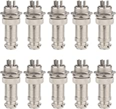 Clyxgs Aviation Plug 5-Pin 16mm Metal Male Female Panel Connector GX16-5(Pack of 10)