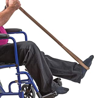 Leg Lifter Strap helps Increase Mobility and Maneuverability on Injured, Elderly or Disabled with Foot Loop and Hand Grip, Adult Size, 32 inches long