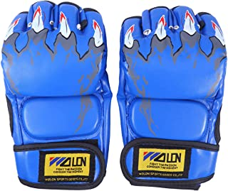 ABOOFAN 1 Pair Outside Gloves Shockproof Breathable Sports Gloves Outdoor Riding Half Finger Gloves for Men Women (Blue)