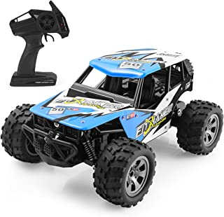 HALOFUN RC Car for Kids, 1:18 Electric RC Car Vehicle 2.4GHz Radio Remote Control Car with 2W High Speed Racing Truck for Kids Adults