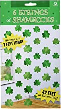 Lucky Irish Green St. Patrick's Day Shamrock Foil String Party Decoration, Foil, 7', Pack of 12
