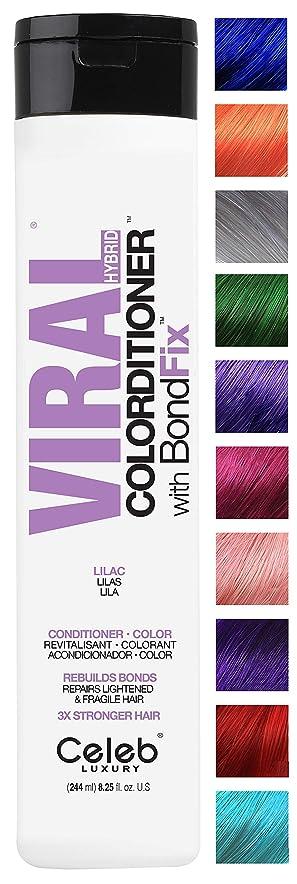 ポルノ始まり追記CELEB LUXURY セレブラグジュアリーウイルスColorditioner:カラー堆積コンディショナー、BondFixボンド再建、10の鮮やかなパステルカラーは、フェード、コンディショナー+鮮やかな色、残酷フリー、100%ビーガンを停止します ライラック