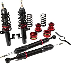 Coilover Struts Spring Shocks Adjustable Coilovers Suspension Coil Spring Shocks and Struts Full Set Kits ECCPP Replacement fit for 2010-2013 Mazda 3