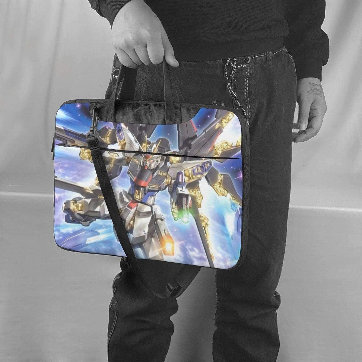 Mobile Suit Gundam Laptop Bags for Men and Women Big Business Briefcases Travel Messenger Shoulder Bag Computer Backpack Fit 13 14 15.6 Inch Laptop and Notebook Black,15.6 Inch