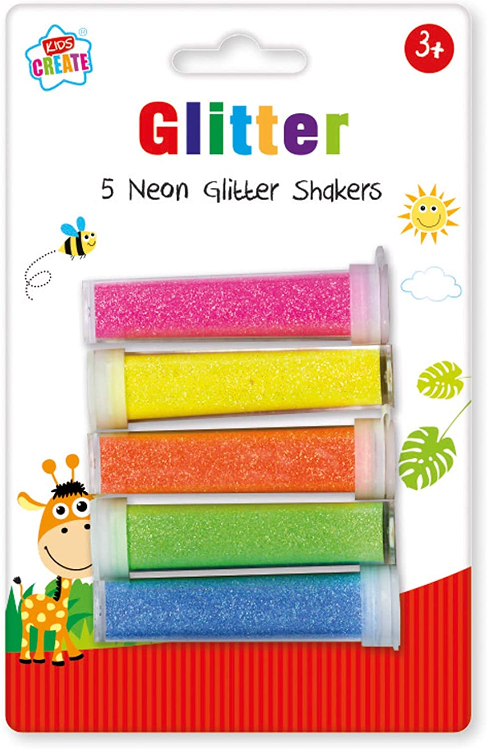 Kids Create 5 Pack Assorted Shakers Glitter Childrens Neon Arts Cheap bargain Free shipping on posting reviews