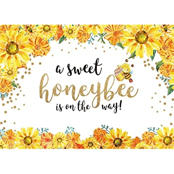 Sweet Beautiful Flower Photography Background Little bee Theme Birthday Party Backdrop Tropical Baby Shower Cake Table Decora