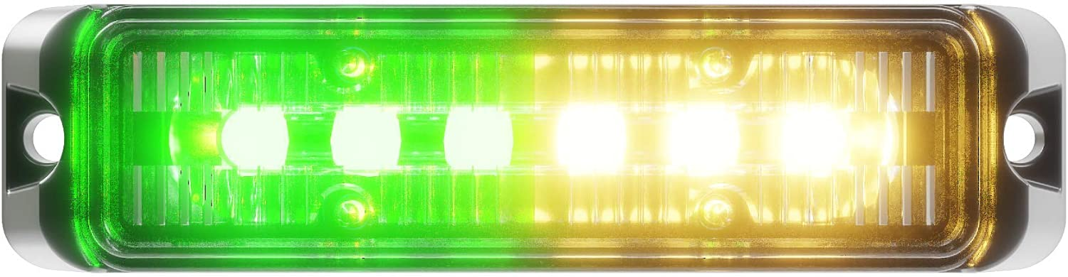 Abrams Flex Series Amber Green 18W T 6 Vehicle Ranking integrated 1st place Emergency - Super Special SALE held LED