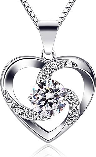 B.Catcher regalo di San Valentino per collana da donna, in argento Sterling 925 con ciondolo Crazy Love