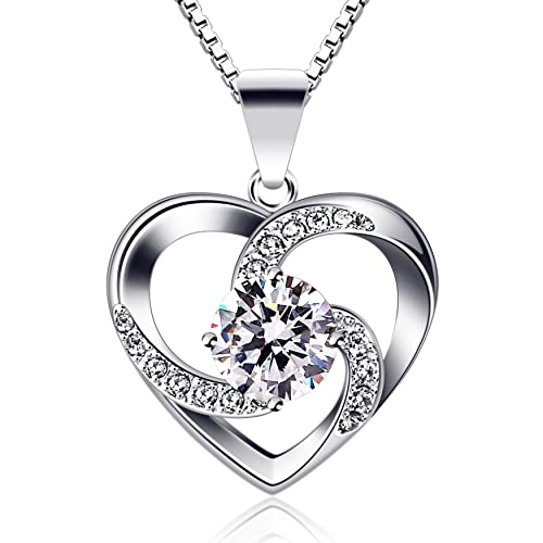 """B.Catcher Women Necklace 925 Sterling Silver """"Crazy Love"""" Pendant Necklaces  with 18inch af6a572fc"""