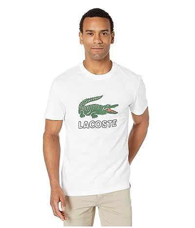 Lacoste Short Sleeve Graphic Jersey Croc Regular Fit T-Shirt (White) Men