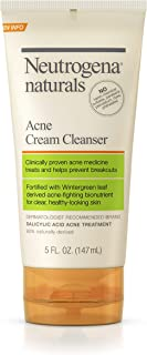 neutrogena naturals, acne cream cleanser, 5 fl oz (147 ml)