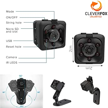 Mini Spy Camera by CFU - Wireless 1080P Hidden Camera - Portable Small HD Nanny Cam with Night Vision and Motion Dete...