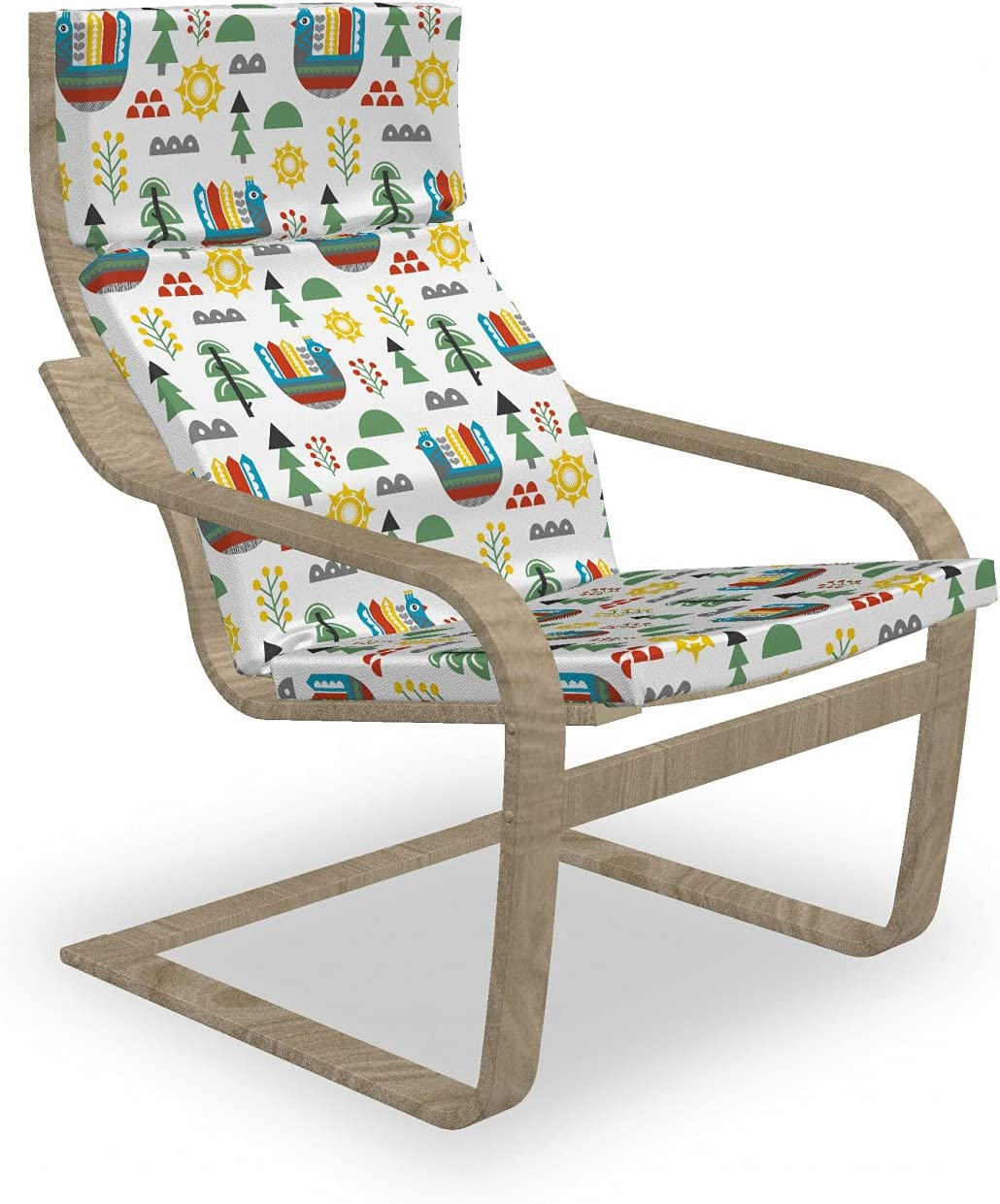 Ambesonne Cartoon Sales Armchair Pad and Pastel Slipcover Apa NEW before selling ☆ Chicken